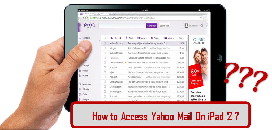 access yahoo mail on ipad 2