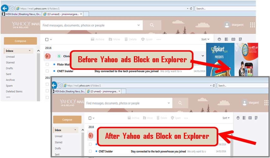 yahoo ads Block on Firefox