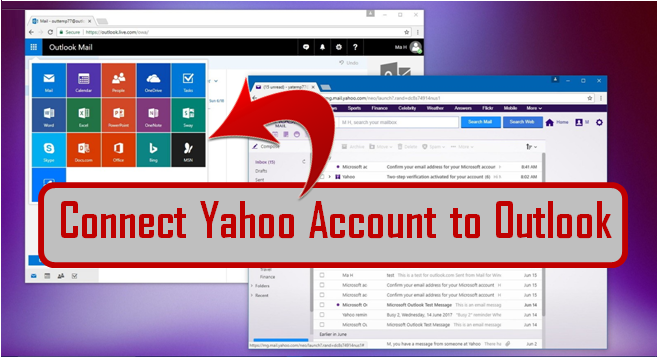 connect yahoo to outlook